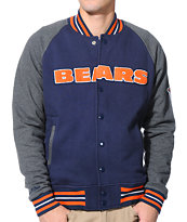 NFL Mitchell and Ness Bears Backward Pass Blue Jacket