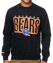 NFL Mitchell and Ness Bears Retro Blur Crew Neck Sweatshirt