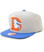 NFL Mitchell and Ness Broncos XL 2 Tone Snapback Hat