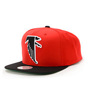 NFL Mitchell and Ness Falcons XL Logo 2Tone Red Snapback Hat