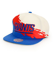 NFL Mitchell and Ness Giants Paintbrush Snapback Hat