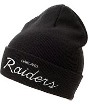 NFL Mitchell and Ness Oakland Raiders Black Fold Beanie