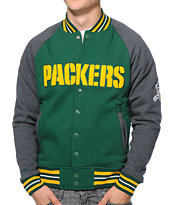 NFL Mitchell and Ness Packers Backward Pass Green Jacket