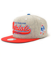 NFL Mitchell and Ness Patriots Tailsweeper Melton Strapback Hat