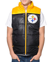 NFL Mitchell and Ness Pittsburgh Steelers Black Vest