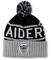 NFL Mitchell and Ness Raiders Pom Beanie