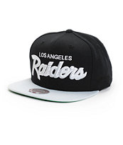 NFL Mitchell and Ness Raiders Script 2 Tone Snapback Hat