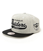 NFL Mitchell and Ness Raiders Tailsweeper Melton Strapback Hat
