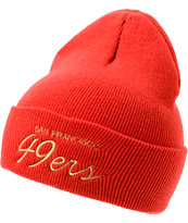 NFL Mitchell and Ness San Francisco 49ers Red Fold Beanie