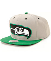 NFL Mitchell and Ness Seahawks Arch 2 Tone Under Snapback Hat