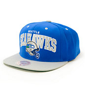 NFL Mitchell and Ness Seahawks Arch Helmet Snapback Hat