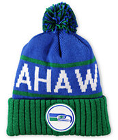 NFL Mitchell and Ness Seahawks Pom Beanie