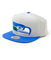 NFL Mitchell and Ness Seahawks XL Logo 2 Tone Snapback Hat