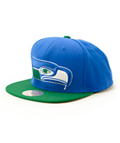 NFL Mitchell and Ness Seahawks XL Logo Snapback Hat