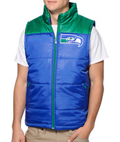 NFL Mitchell and Ness Seattle Seahawks Blue & Green Vest
