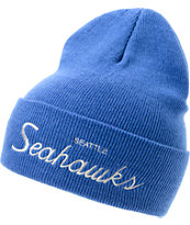 NFL Mitchell and Ness Seattle Seahawks Blue Fold Beanie