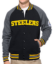 NFL Mitchell and Ness Steelers Backward Pass Black Jacket