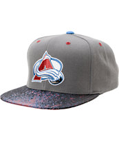 NHL Mitchell and Ness Avalanche Grey Splatter Snapback Hat