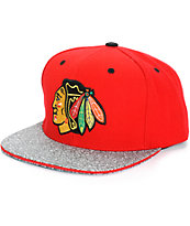 NHL Mitchell and Ness Blackhawks Crackle Snapback Hat