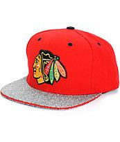 NHL Mitchell and Ness Blackhawks Crackle Snapback Hat