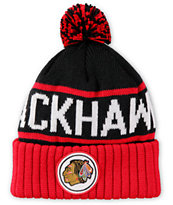 NHL Mitchell and Ness Blackhawks Pom Beanie