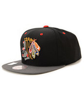 NHL Mitchell and Ness Blackhawks XL Reflective Snapback Hat