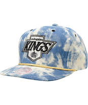 NHL Mitchell and Ness Kings Acid Wash Blue Snapback Hat