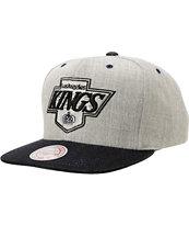NHL Mitchell and Ness Kings Grey Denim 2Tone Snapback Hat