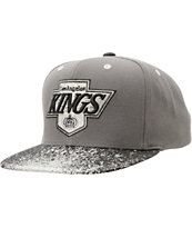 NHL Mitchell and Ness Kings Grey Splatter Snapback Hat