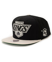 NHL Mitchell and Ness Kings XL Logo 2Tone Black Snapback Hat