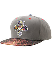 NHL Mitchell and Ness Panthers Grey Splatter Snapback Hat