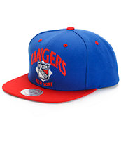 NHL Mitchell and Ness Rangers Grand Arch 2 Tone Snapback Hat