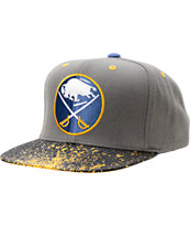 NHL Mitchell and Ness Sabres Grey Splatter Snapback Hat