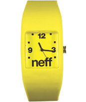 Neff Bandit Yellow Wristband Analog Watch
