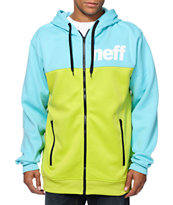 Neff Block Shredder Blue & Green Zip Up Hoodie