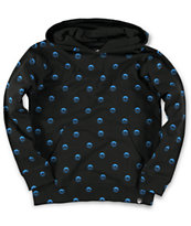 Neff Boys All Over Sucker Black Pullover Hoodie