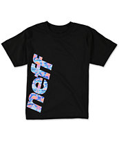 Neff Boys Corp Flamingo Fill Black Tee Shirt
