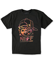 Neff Boys Cosmic Kenni Drip Black T-Shirt