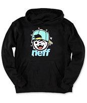 Neff Boys Jamie Black & Teal Pullover Hoodie