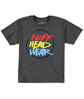 Neff Boys Mikey Charcoal T-Shirt