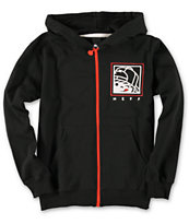 Neff Boys Numeral Black Zip Up Hoodie