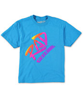 Neff Boys Rad Fill Turquoise Tee Shirt