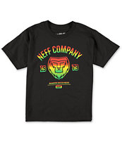 Neff Boys Rasta Lion Black T-Shirt