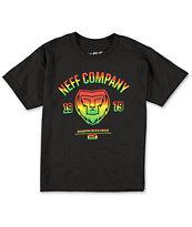 Neff Boys Rasta Lion Black T-Shirt