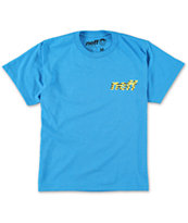 Neff Boys Shark Surfer Turquoise Tee Shirt