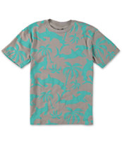 Neff Boys Shorky Grey Tee Shirt