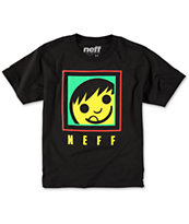Neff Boys Square Black & Rasta Tee Shirt