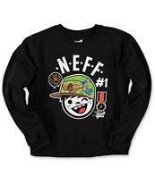 Neff Boys Style Division Black Crew Neck Sweatshirt