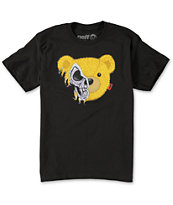 Neff Boys Teddy Skulls Black Tee Shirt
