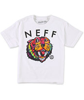 Neff Boys Tiegerr White T-Shirt